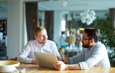 Listing Presentation between two men